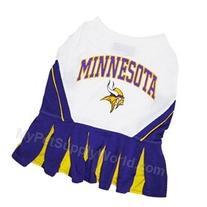 Pets First Minnesota Vikings NFL Team Pet Dog Cheerleader