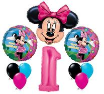 Minnie Mouse #1 1st First Happy Birthday Balloon Party Set