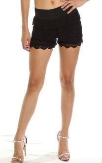 Pinkclubwear Black/Ivory/Mint/Coral Tiered Crochet Lace