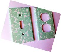Mint Green Lace Light Switch Cover - Various sizes Offered