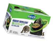 Mint X MX3339B40DS 33 Gallon Rodent Repellent Trash Bags, 40