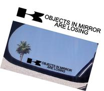 "Mirror Decals "" OBJECTS IN MIRROR ARE LOSING"" for Kawasaki"