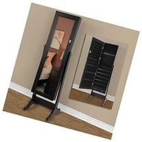 Mirrored Jewelry Cabinet Amoire Stand