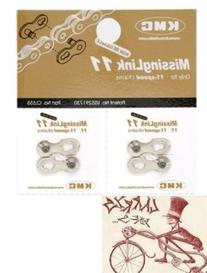 KMC Missing Link 11-Speed Bicycle Chain Links--2 in a pack