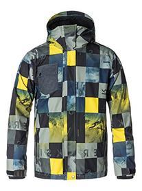 Quiksilver Snow Men's Mission 3 In 1 Jacket, Check Kapser