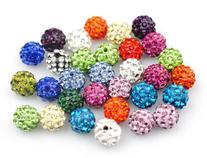 Yuan mutang 10mm 100pcs/Lot Mixed Color Clay Pave Disco