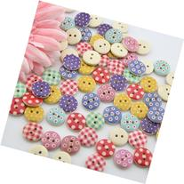 100pcs Mixed Wooden Buttons in Bulk Buttons for Crafts