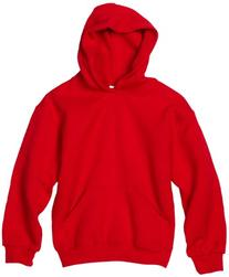 MJ Soffe Big Boys' Basic Hooded Sweatshirt, Red, X-Large