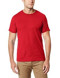 MJ Soffe Men's Ringspun Fitted Tee, Red, Medium