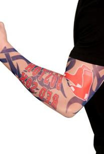 MLB Boston Red Sox Authentic Tattoo Sleeves with Full Color