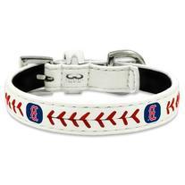 MLB Boston Red Sox Classic Leather Baseball Dog Collar