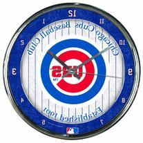 "MLB Chicago Cubs Chrome Clock, 12"" x 12"