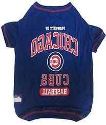 Pets First MLB Chicago Cubs Dog Tee Shirt, Medium