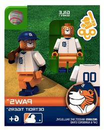 MLB Detroit Tigers Paws Mascot Figure