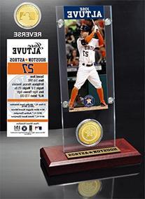MLB Houston Astros Jose Altuve Ticket & Bronze Coin Acrylic