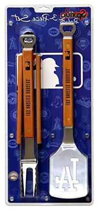MLB Los Angeles Dodgers 3PC BBQ Set, Heavy Duty Stainless