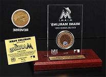 MLB Marlins Park Infield Dirt Coin Etched Acrylic