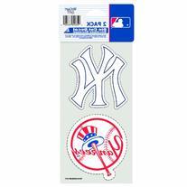 "MLB New York Yankees 2-Piece Die-Cut Decal, 4"" x 8"