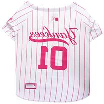 Pets First MLB New York Yankees Dog Jersey, Small, Pink