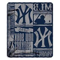 MLB New York Yankees Strength Printed Fleece Throw, 50-inch