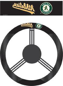 MLB Oakland Athletics Poly-Suede Steering Wheel Cover