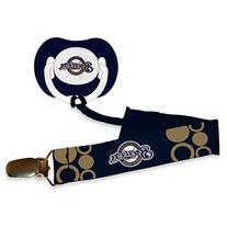 MLB Milwaukee Brewers Baby Fanatic Pacifier with Clip