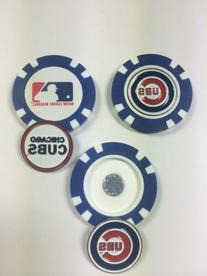 Chicago Cubs MLB poker chip ball markers 3 pack