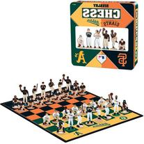 MLB Rivalry Chess Giants vs. A's Collector's Edition