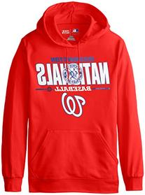 MLB Washington Nationals Men's SA2 Fleece Hoodie, Red, Large