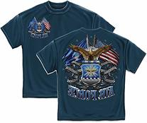 Erazor Bits MM2150XXL Double Flage Air Force Eagle Mens T-
