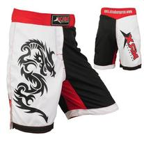 Mrx MMA Fight Shorts Stretch Penals Blk/Rd/Wht (Black/Red/