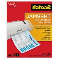 Letter Size Thermal Laminating Pouches, 200/Pack
