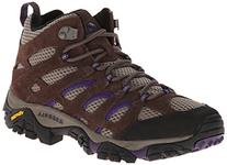 Women's Moab Ventilator Mid Hiking Boot,Bracken/Purple,7.5