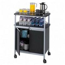 Safco Products 8964BL Mobile Beverage Hospitality Cart,