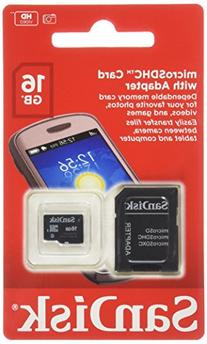 SanDisk 16GB Mobile MicroSDHC Class 4 Flash Memory Card With