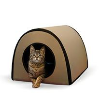 "K&H Pet Products Mod Thermo-Kitty Heated Shelter Tan 21"" x"
