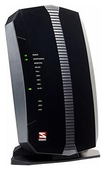 Zoom 8x4 Cable Modem plus N300 Wireless Gigabit Router,