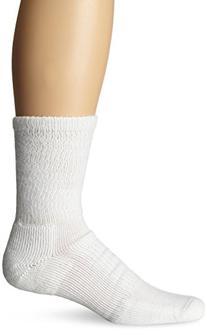 Thorlo Unisex Moderate Cushion Walking Crew Sock, White,