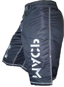 Modern Army Combatives Fight Shorts Black and Silver Design
