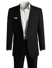 MONDAYSUIT Men's Modern Fit Solid 2-Piece Suit BLACK Blazer