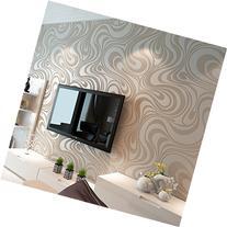 Modern Luxury Abstract Curves Glitter Non-woven Textured 3D
