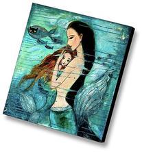 Modern Oil Painting Print Art Animal Painting Mermaid
