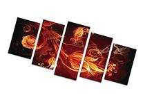 Wieco Art - Modern 5 Piece Stretched and Framed Abstract