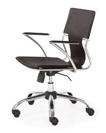 Zuo Modern Trafico Office Chair, Espresso