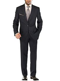Salvatore Exte Men's Modern Two Button Jacket Flat Front