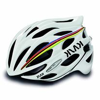 Highway 2 Kask Mojito Helmet, White with Rainbow Stripe,