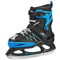 Lake Placid Monarch Boys Adjustable Ice Skate, Black/Blue,