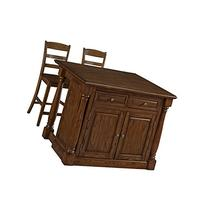 Home Styles 5006-9448 Monarch Kitchen Island and Two Stools