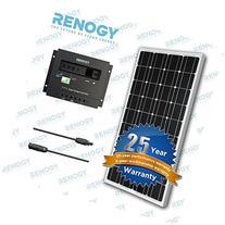 100 Watt 12V Mono Solar Panel Bundle Kit Off Grid for RV