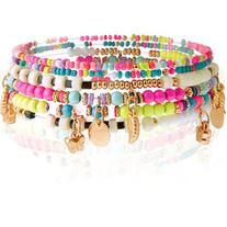 Monsoon Neon Charm Stretch Bracelets